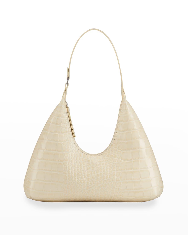 Amber Moc-Croc Shoulder Bag