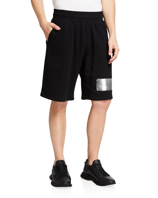 Men's Latex-Logo Sweat Shorts