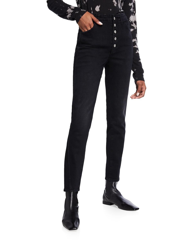 Dock High-Rise Slim Denim Pants