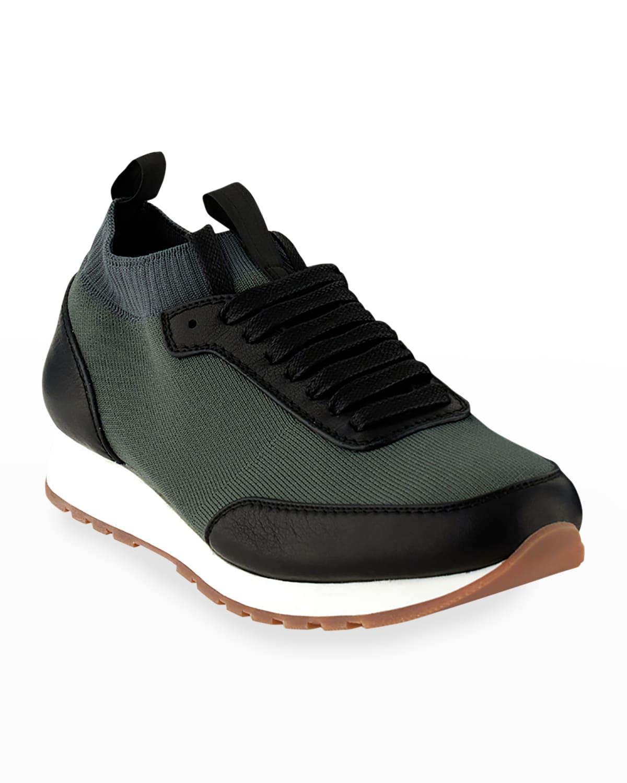 Men's Mesh Sock-Collar Runner Sneakers