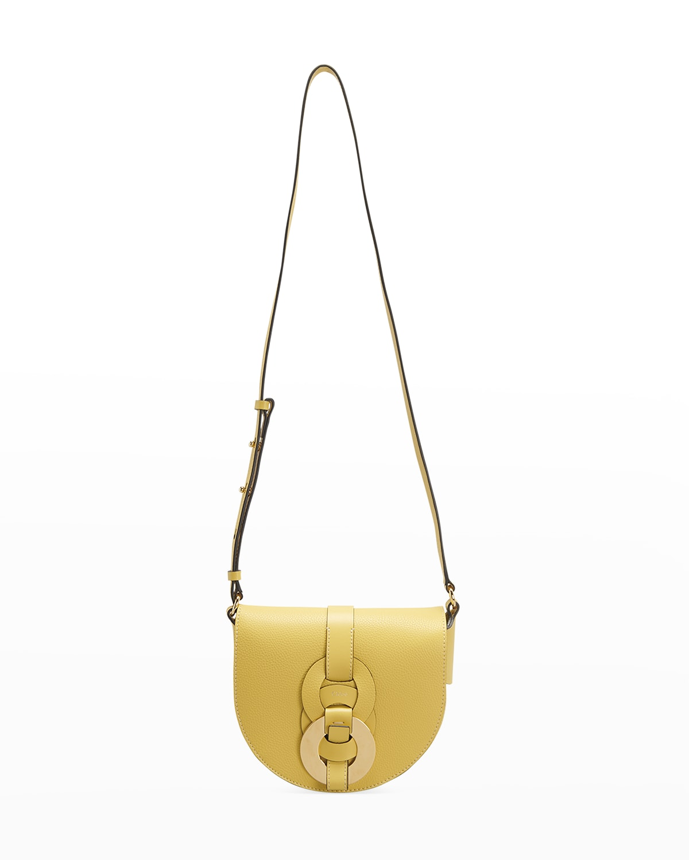 Darryl Leather Saddle Crossbody Bag