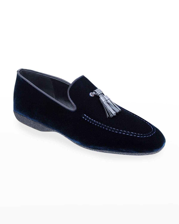 Men's Hope Velvet Tassel Loafers