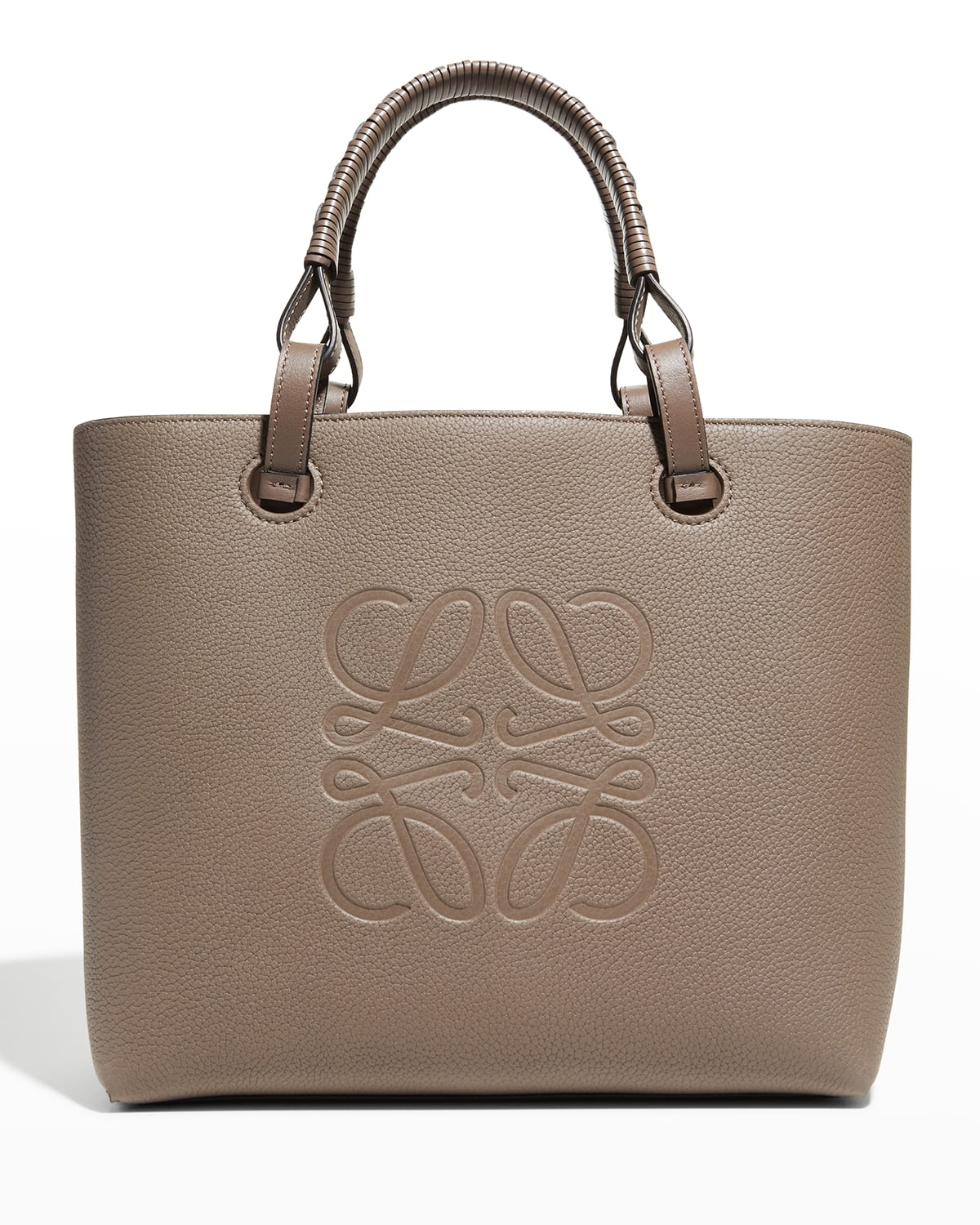 Anagram Small Classic Leather Tote Bag