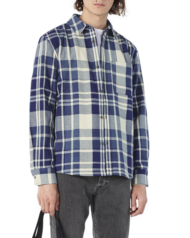 Men's Trek Plaid Yarn-Dye Long-Sleeve Shirt