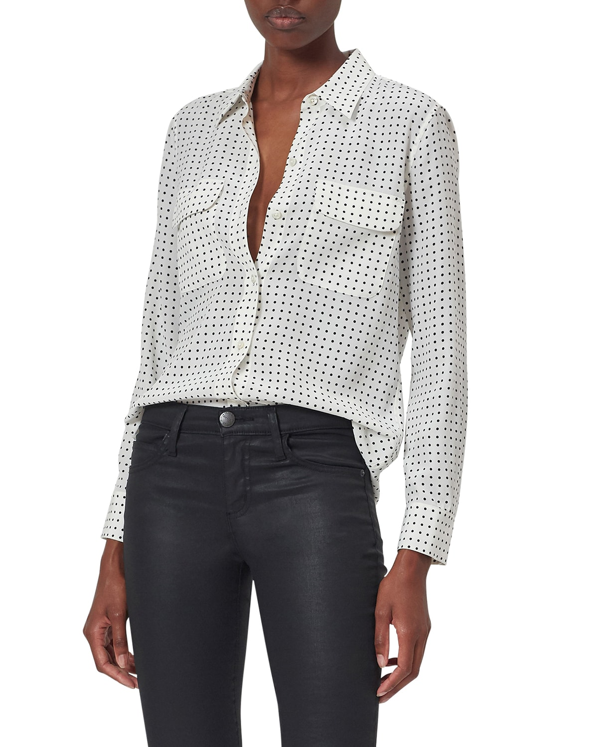 Slim Signature Dotted Button Down Shirt
