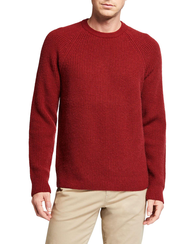 Men's Ribbed Raglan Crewneck Sweater