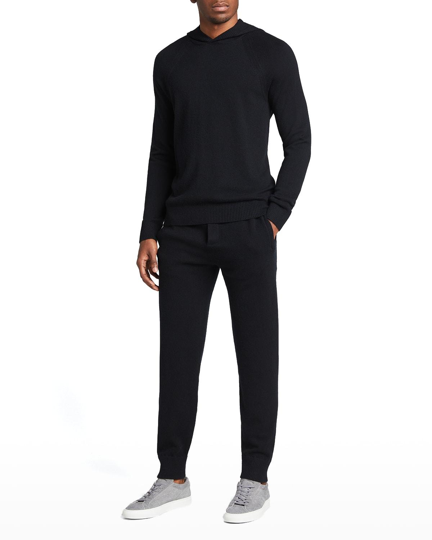 Men's Cashmere-Blend Pullover Hoodie