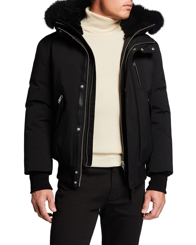 Men's Dixon Fur-Trim Bomber Jacket