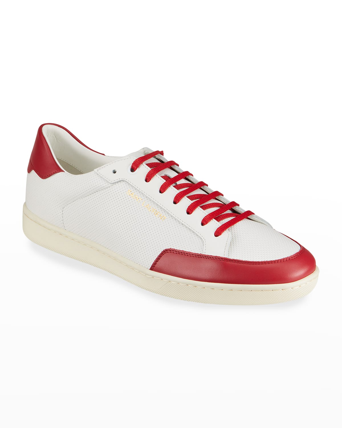 Men's Court Classic SL/10 Two-Tone Perforated Low-Top Sneakers