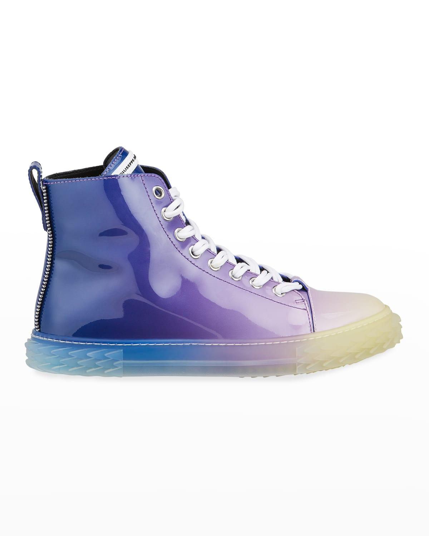 Men's Blabber Ombre Patent High-Top Sneakers
