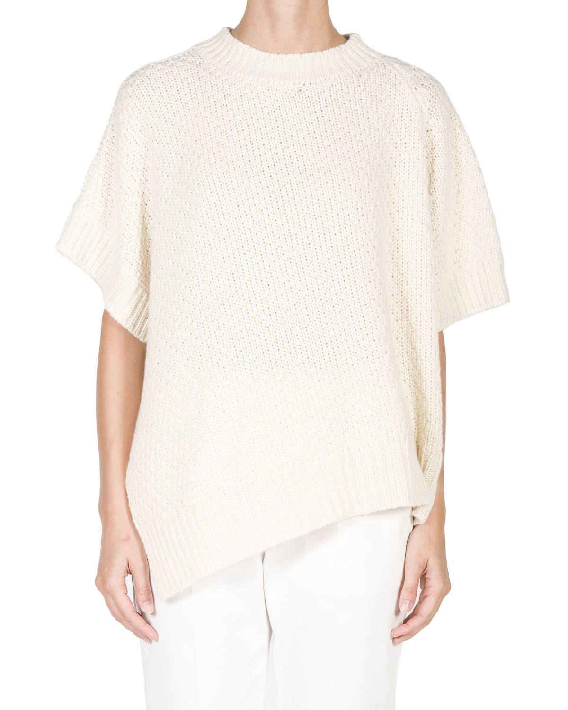 Asymmetric Cashmere-Cotton Sweater