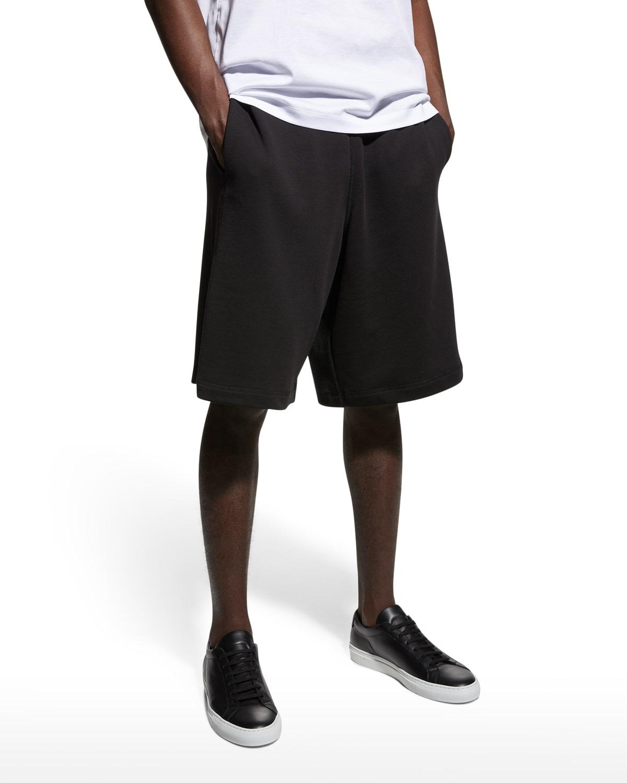 Men's Long Solid Sweat Shorts