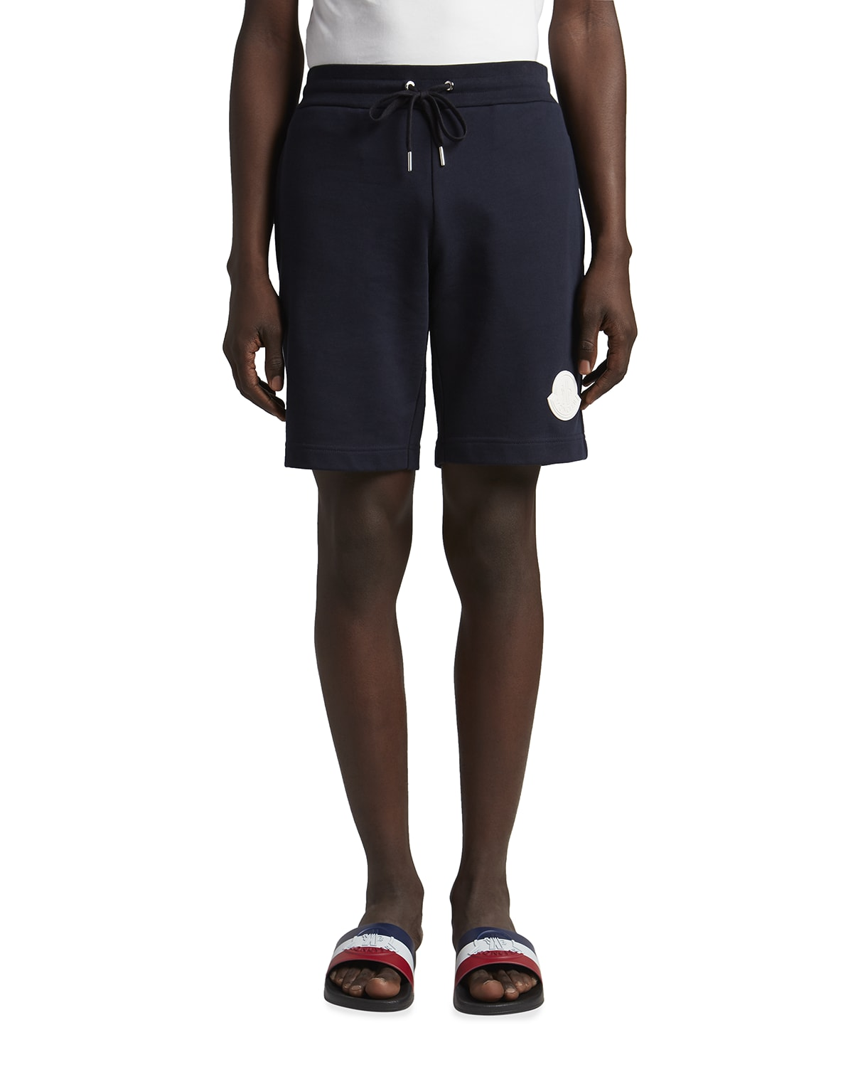Men's Sweat Shorts with Logo Patch