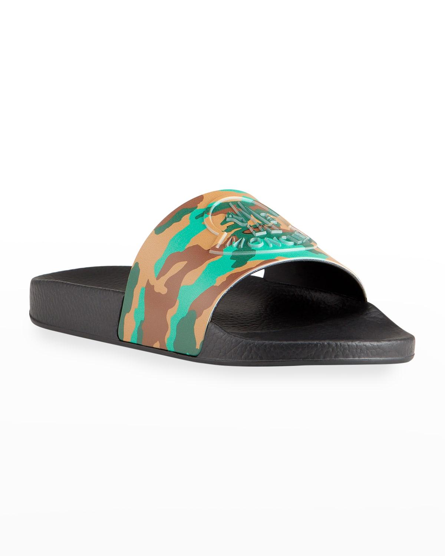 Men's Basile Camo-Print Slide Sandals