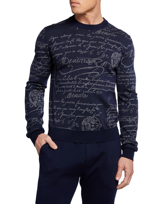 Men's Scritto Crewneck Sweater