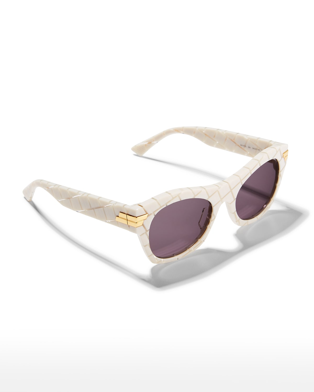 Intrecciato Rectangle Acetate Sunglasses
