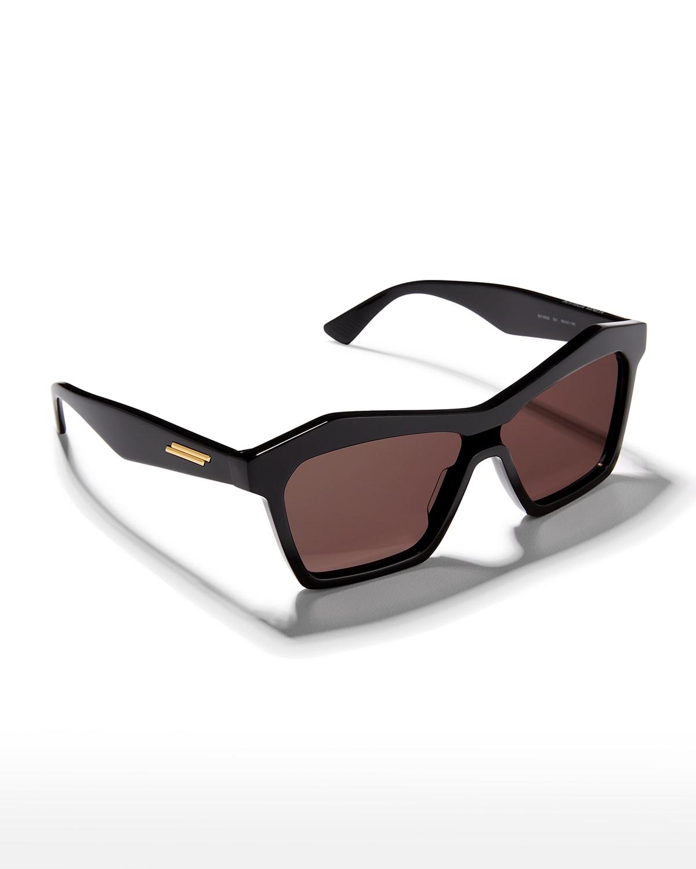 Multifaceted Rectangle Acetate Sunglasses