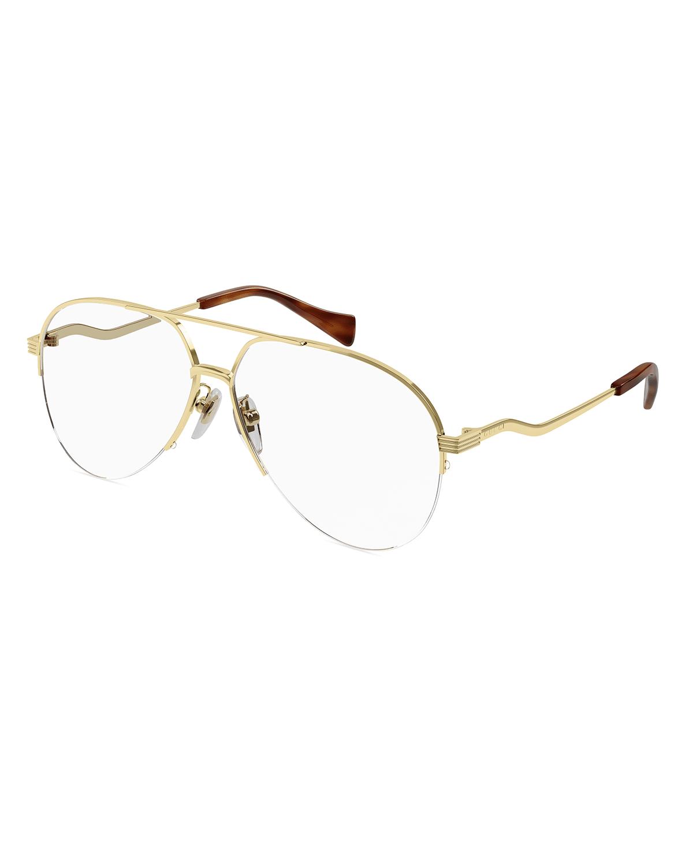 Half-Rim Optical Aviator Glasses