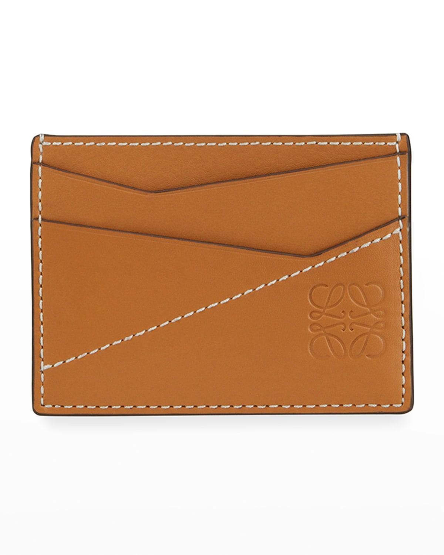 Men's Puzzle Stitched Leather Card Case