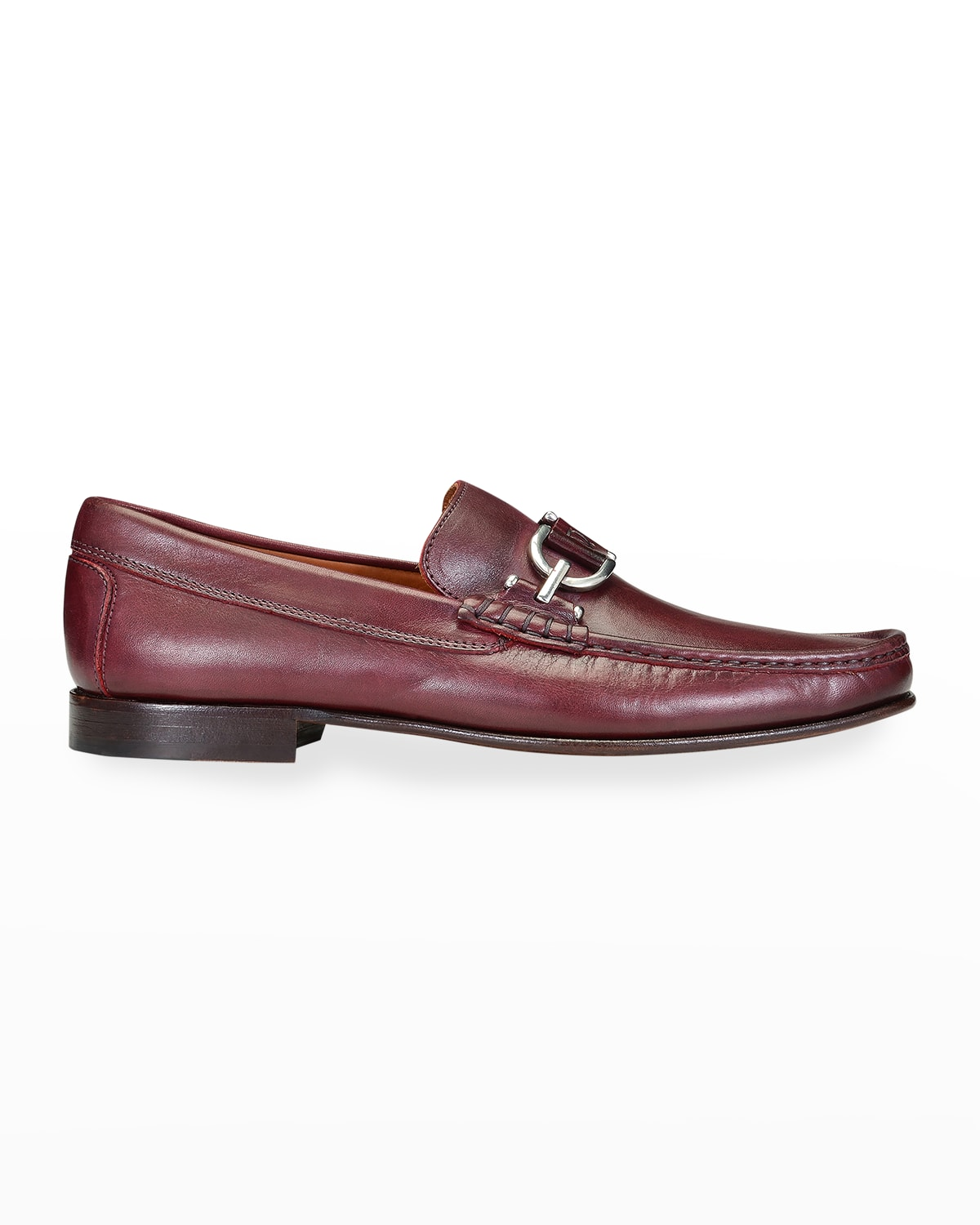 Men's Bit-Strap Leather Loafers