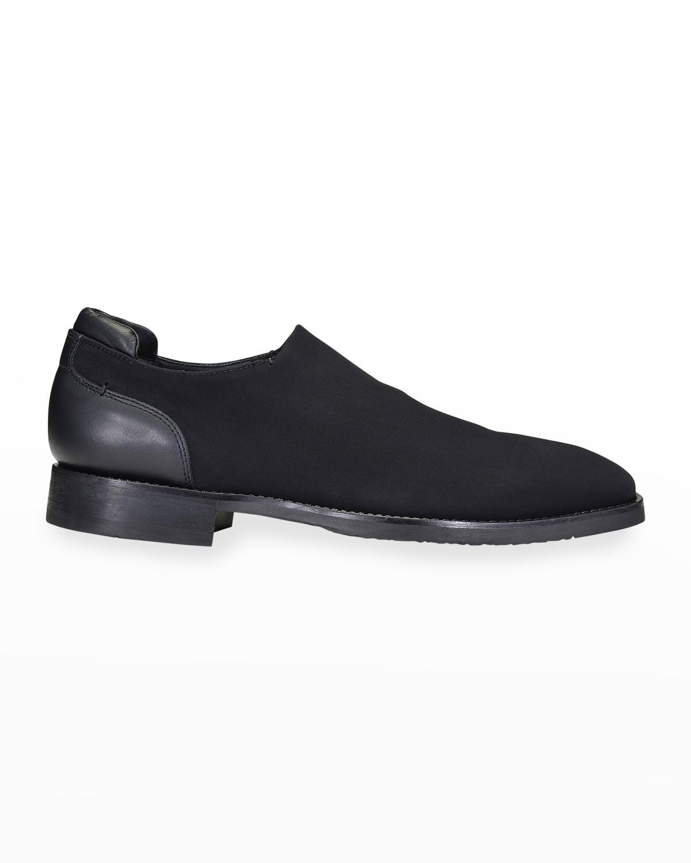 Men's Crepe %26 Leather Slip-On Dress Shoes
