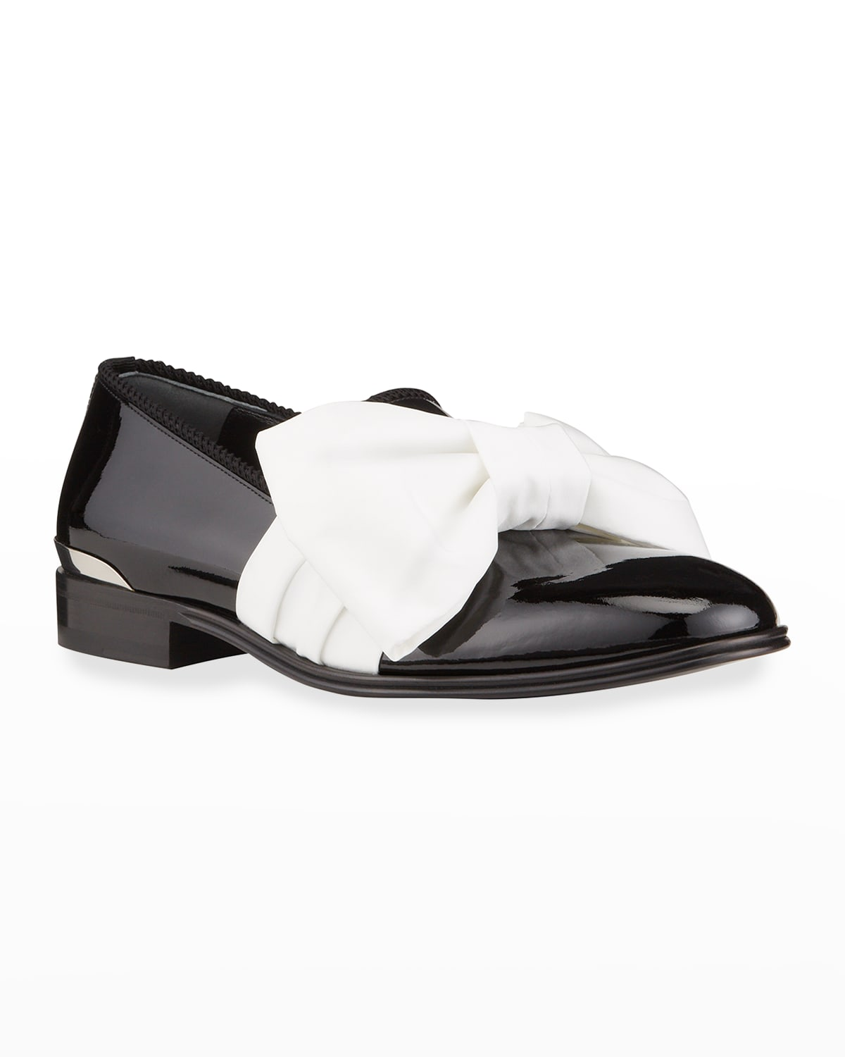 Men's Bow Patent Slippers