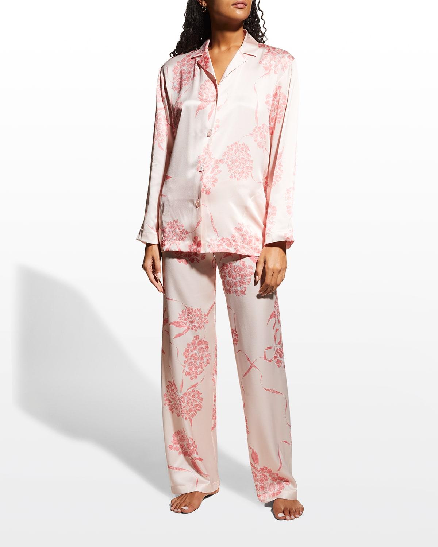 Silk Long-Sleeve Pajama Set