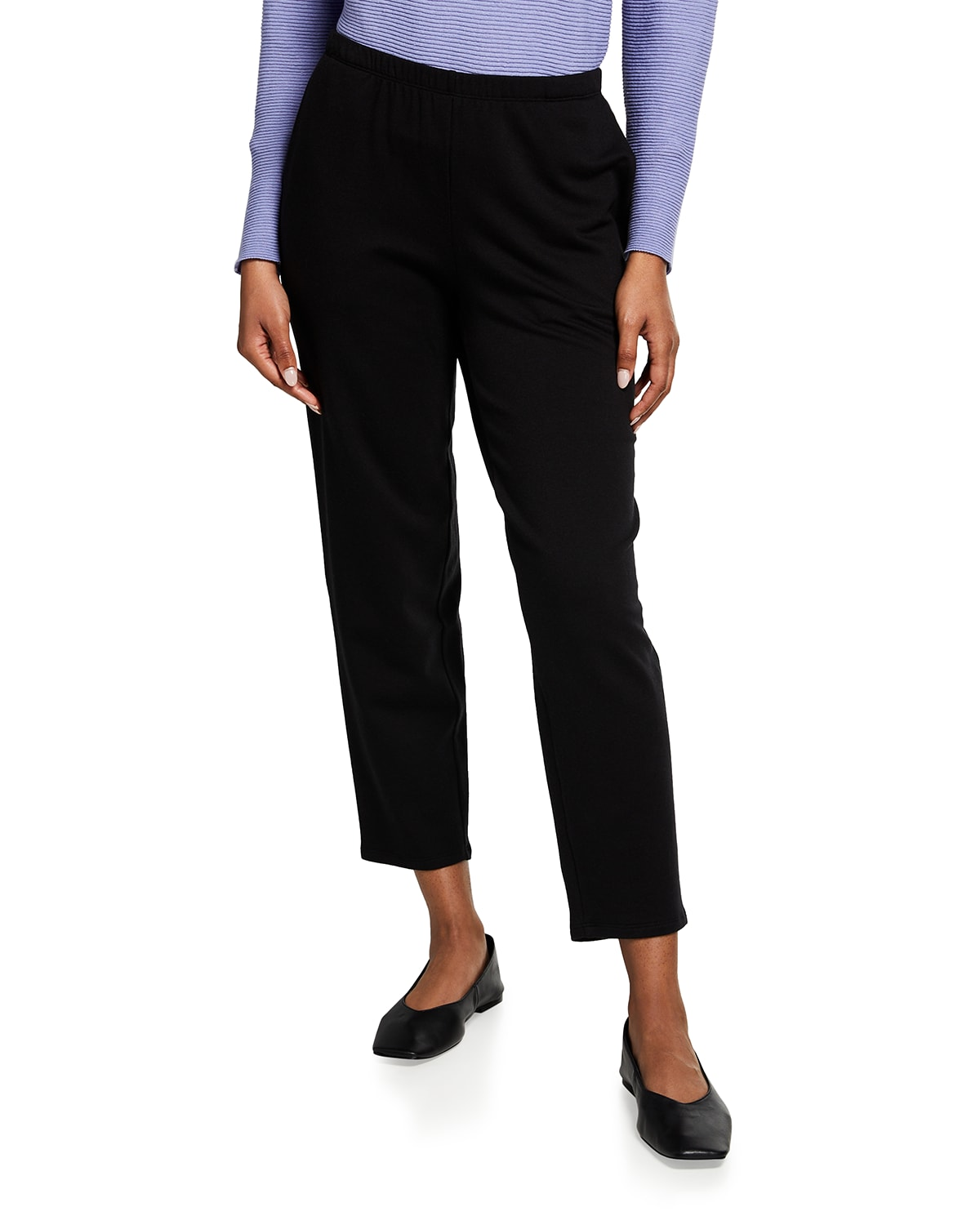 Fleece Tapered Ankle Pants