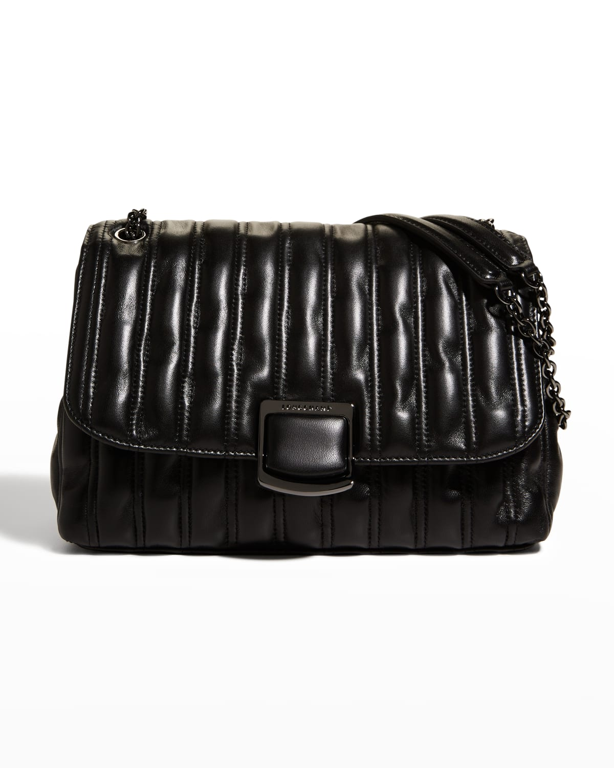 Brioche Large Quilted Lambskin Crossbody Bag