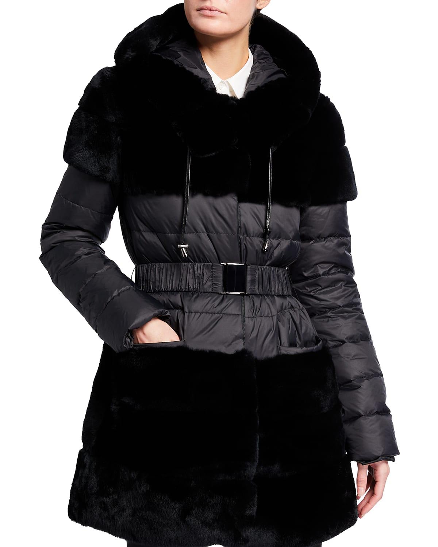 The Erzurum Rex Rabbit Down Jacket