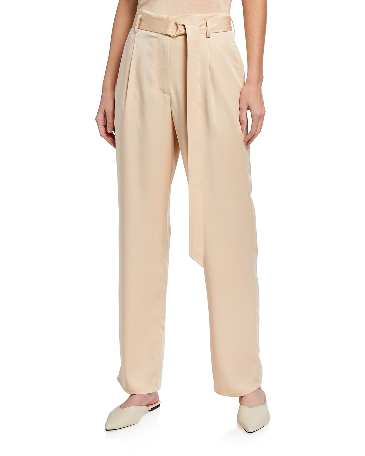 Satin Belted Trousers