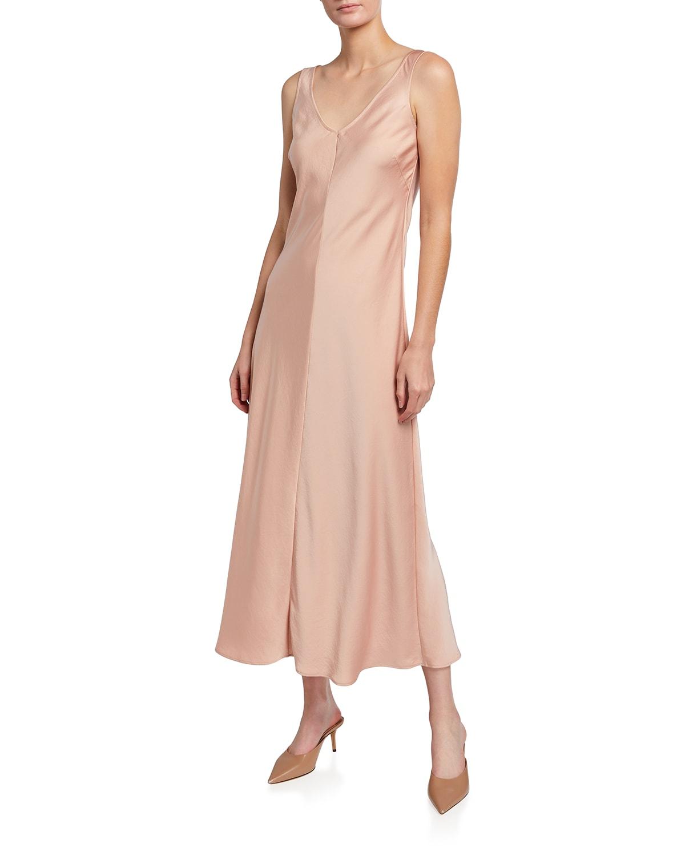 Satin Bias Maxi Dress