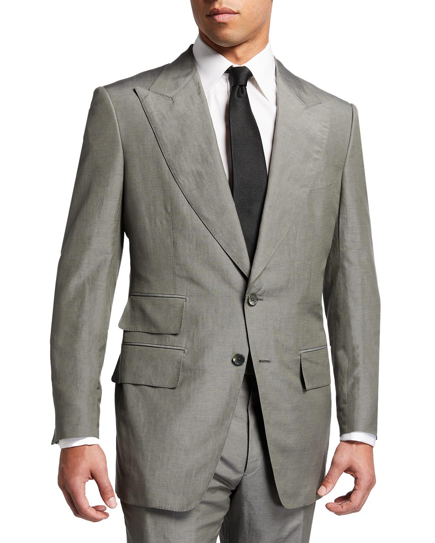 Men's Silk-Linen Two-Piece Day Suit