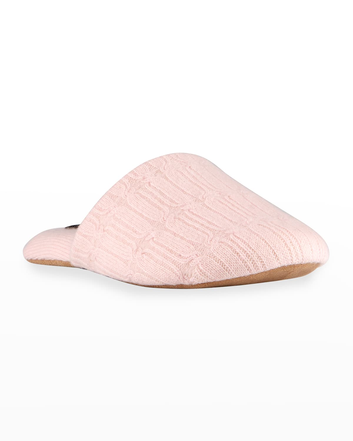 Cable-Knit Cashmere Slippers
