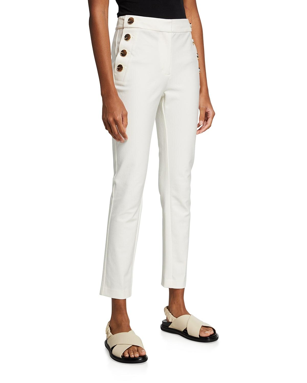Kelis Straight-Leg Sailor Pants