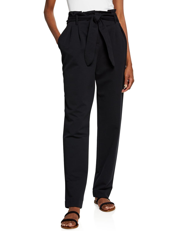 Tie-Waist Paperbag Trousers