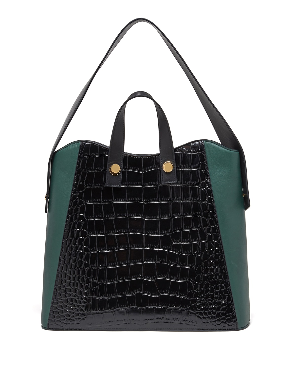 Friday Small Croc-Embossed Leather Shopper Tote Bag