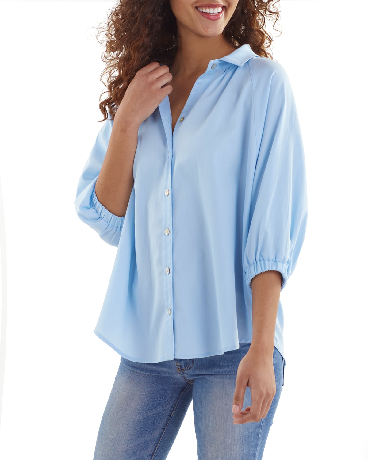 Dylan 1/2-Sleeve Solid Lawn Shirt
