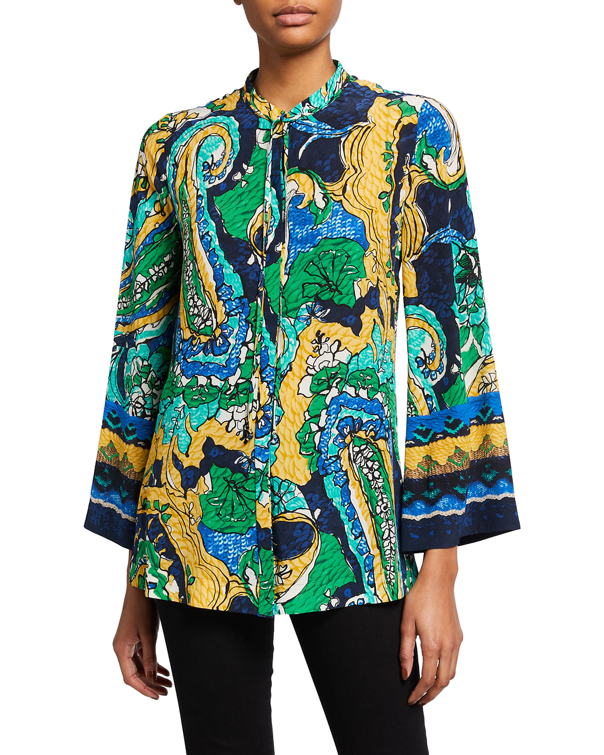 Brodie Abstract Silk Blouse