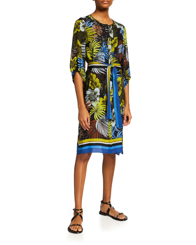 Celine Floral-Print Silk Dress