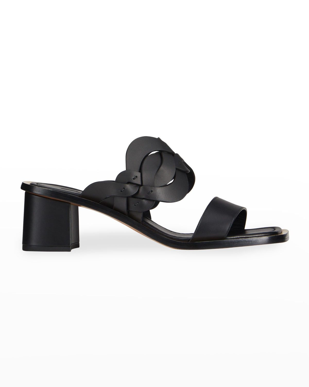 Jules Woven Leather Slide Sandals