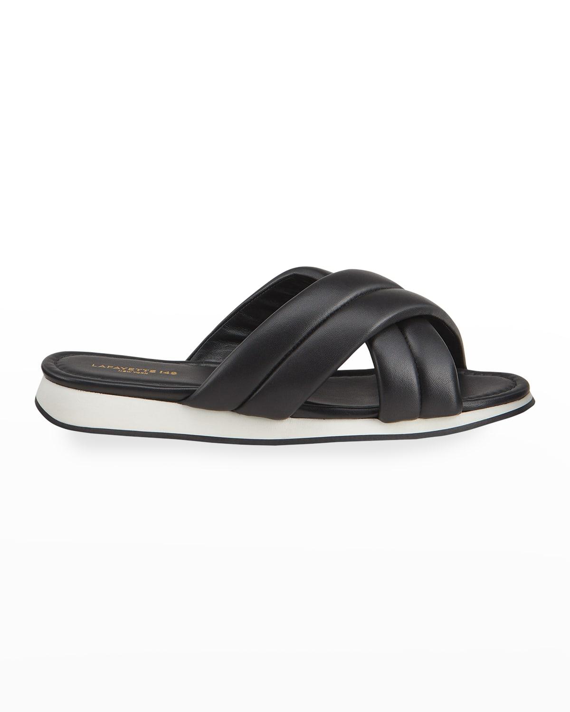 Perle Padded Crisscross Slide Sandals