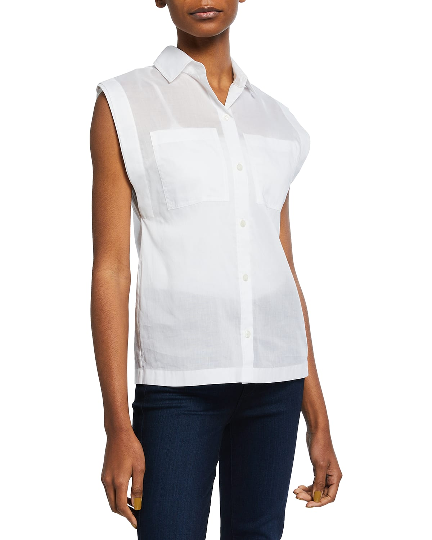 Amber Sleeveless Poplin Shirt