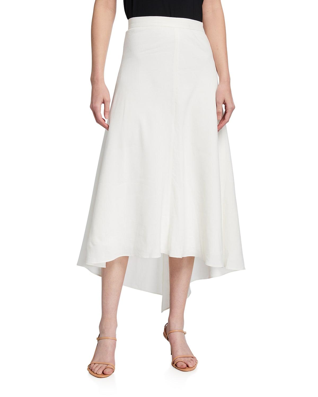 Mazie Twill Midi Skirt