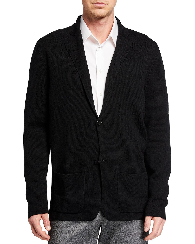 Men's Super 140s Merino Knit Blazer