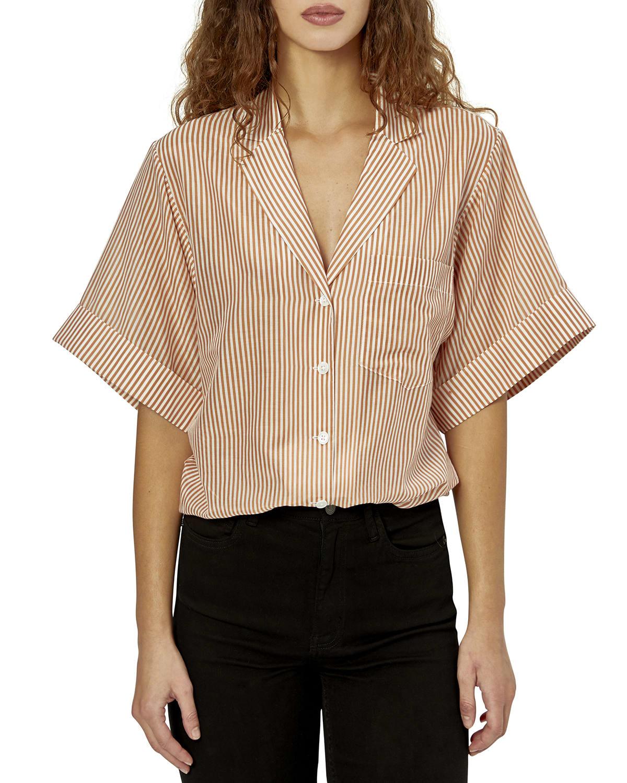 Celeme Striped Button-Front Shirt