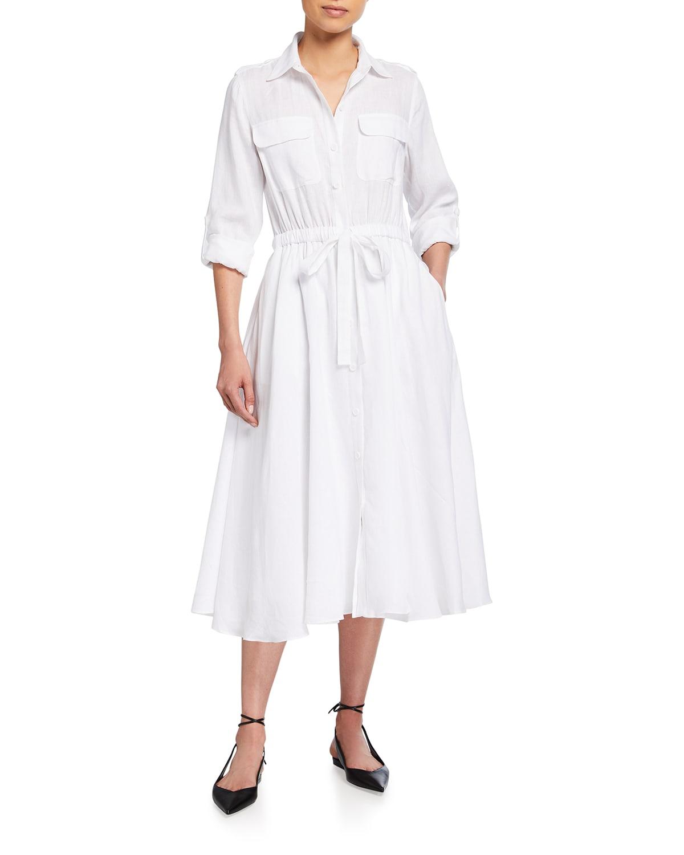 Jacquot Midi Linen Shirtdress