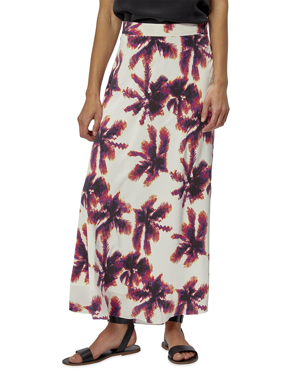 Iva Long Silk Skirt