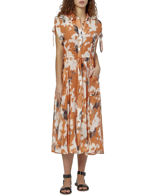 Didier Printed Silk Midi Dress