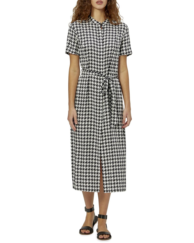 Christabella Short-Sleeve Belted Shirtdress